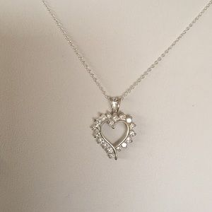 Jewelry - Sterling silver heart with CZ on SS chain